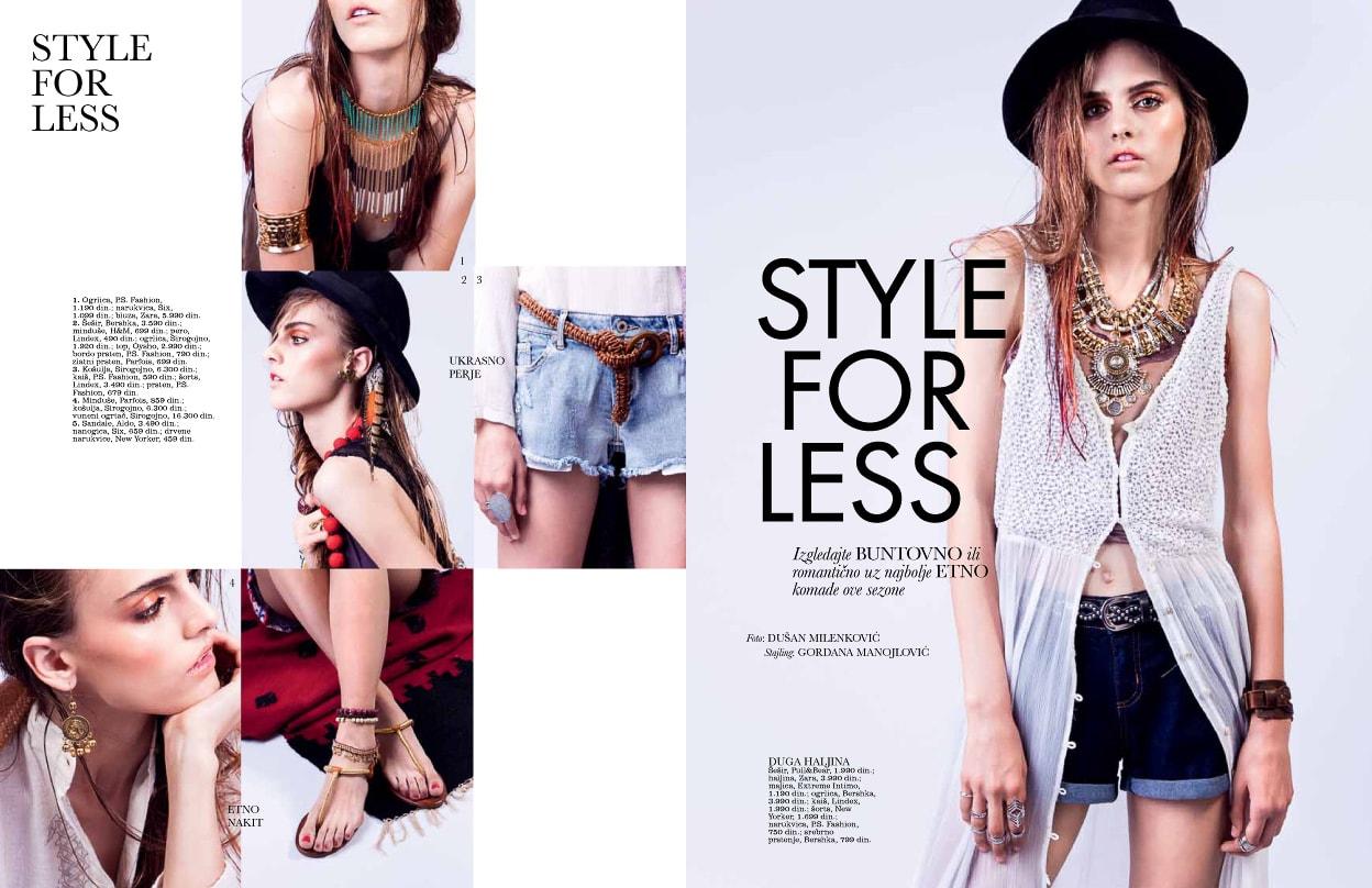 Elle Style For Less Avgust '14